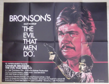 Evil That Men Do, Original UK Quad Poster, Charles Bronson, AMAZING Art,'84